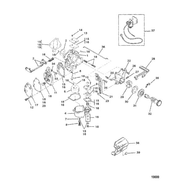 Carb (15)(USA-S/N-0G112449/BEL-S/N-9831799 и ниже) 19699