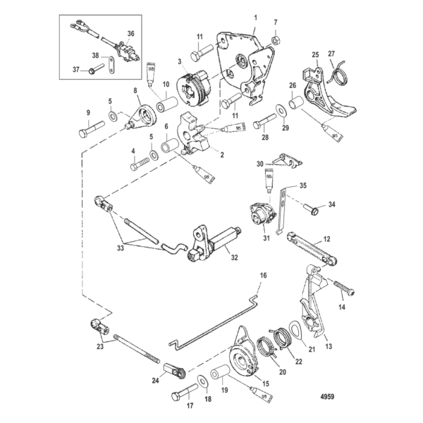 Дроссель и механизм переключения передач 4959
