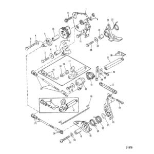 Дроссель и механизм переключения передач (переключение передач на румпеле)