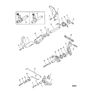 Дроссель и механизм переключения передач (переключение сбоку на корпусе)