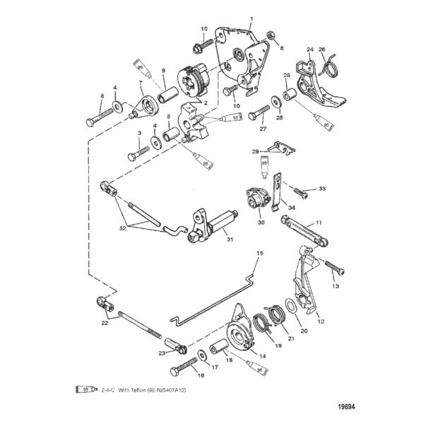 Дроссель и механизм переключения передач (Румпель Shift) 19694