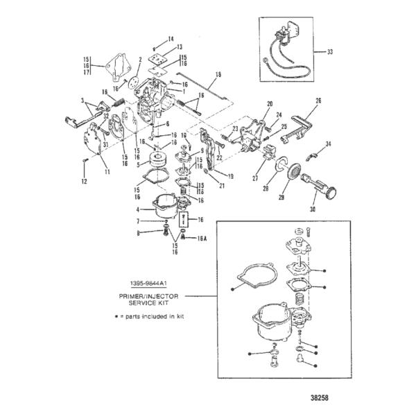 Карбюратор (WMC5A/WMC5B/WMC7/WMC7A/WMC19/WMC19A) 38258
