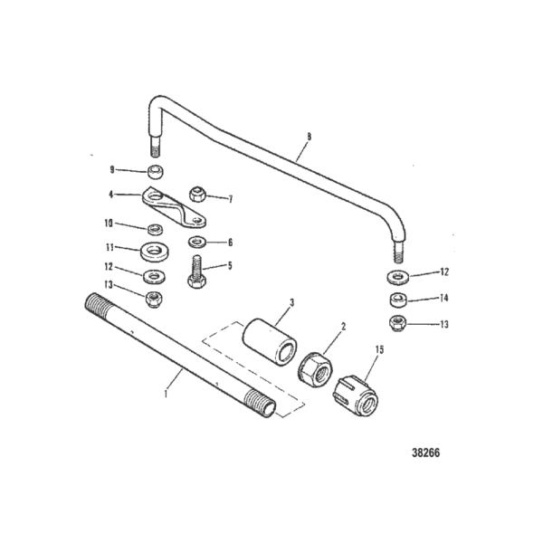 Тяга и компоненты (электопуск, длинный, с дистанционным управлением) 38266